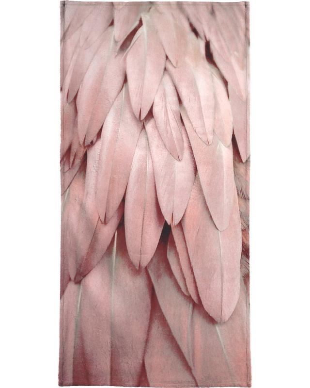 Pastel Feathers Bath Towel