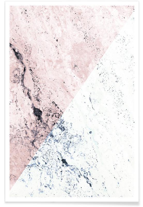 Rose Geo Marble Pattern Poster