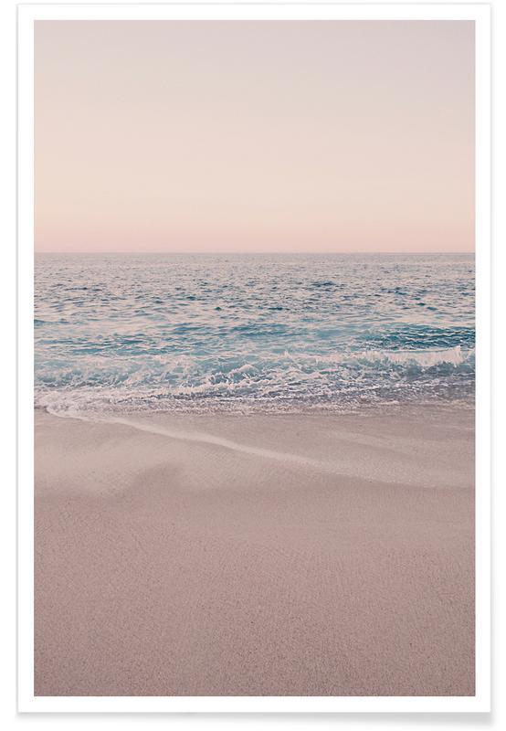 Strande, Hav, sø & havlandskab, Rosegold Beach Morning Plakat