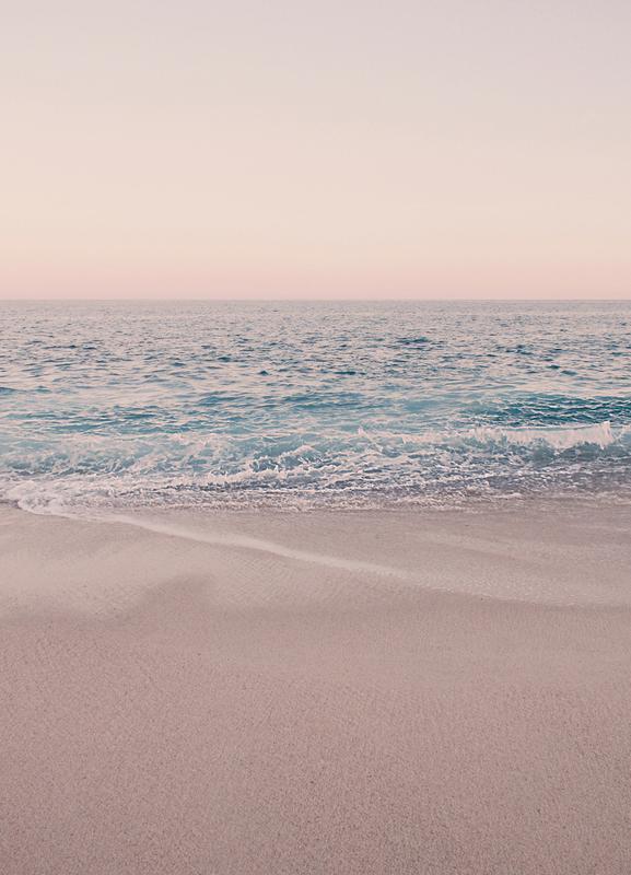 Rosegold Beach Morning -Leinwandbild