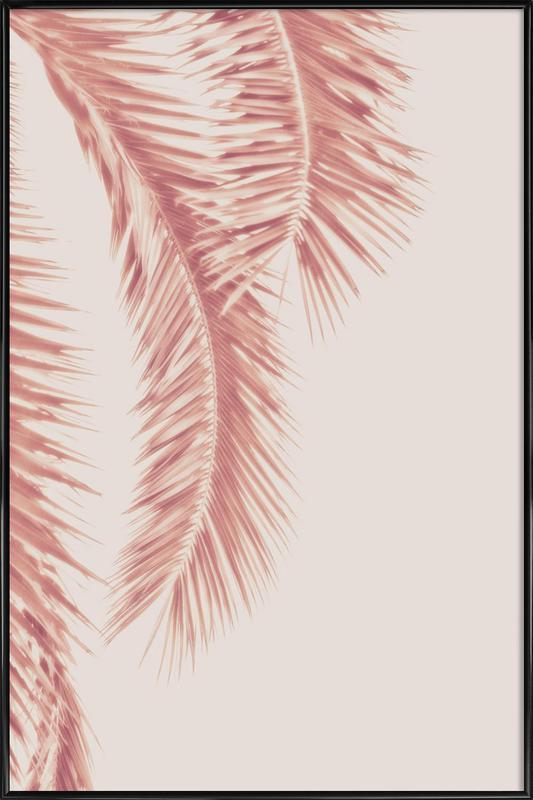 Rose Palm Leaves -Bild mit Kunststoffrahmen