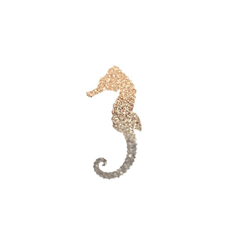 Glitter - Gold Seahorse Canvas Print