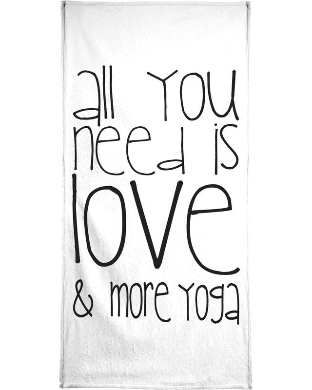 Love and Yoga Beach Towel