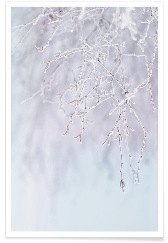 Frozen Twigs Pastel poster