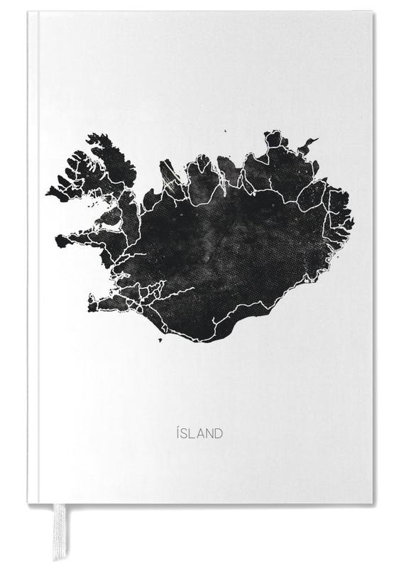 Black Iceland Map Personal Planner