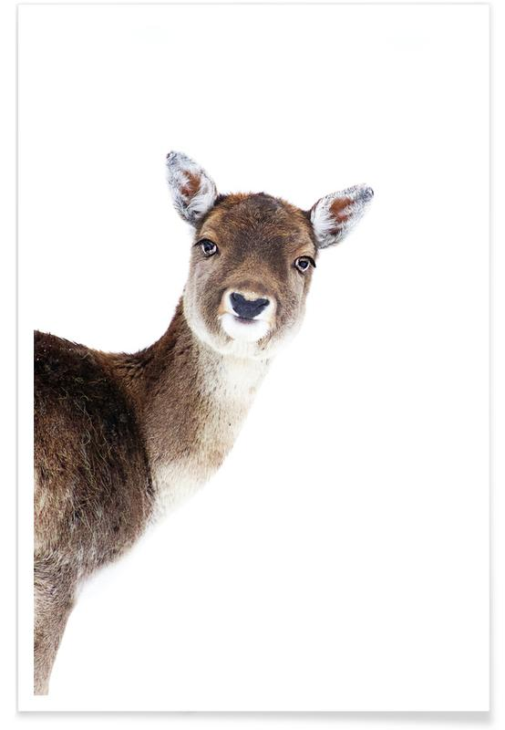 Herten, Kunst voor kinderen, Deer Peekaboo poster