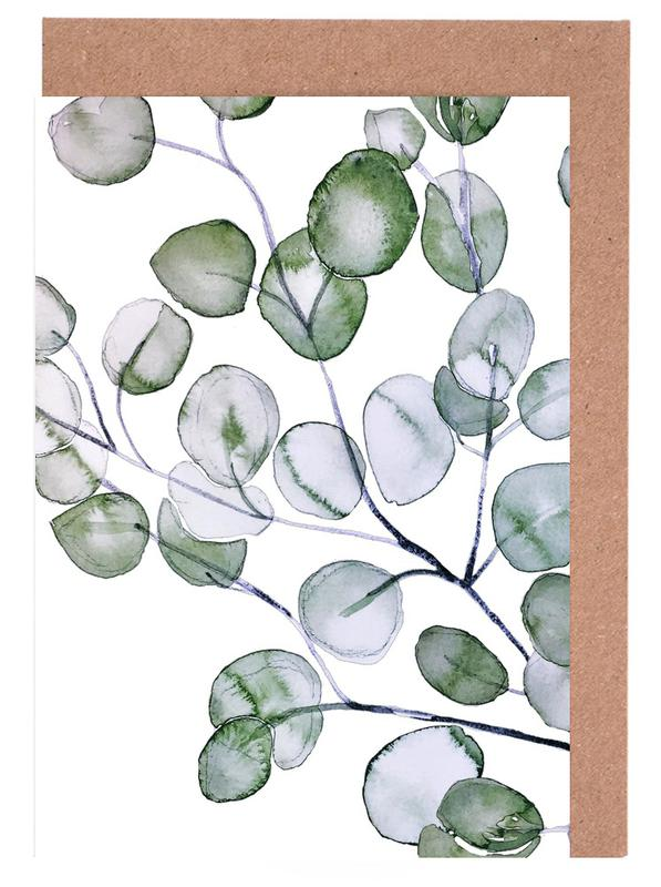 Blätter & Pflanzen, Eucalyptus Watercolor -Grußkarten-Set