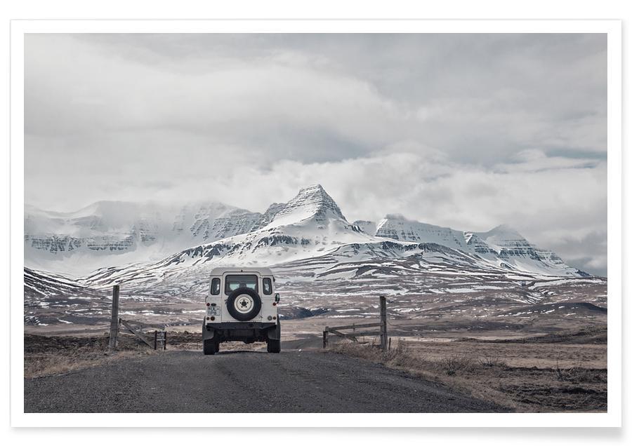 Montagnes, Voitures, Roam the Planet Iceland 01 affiche