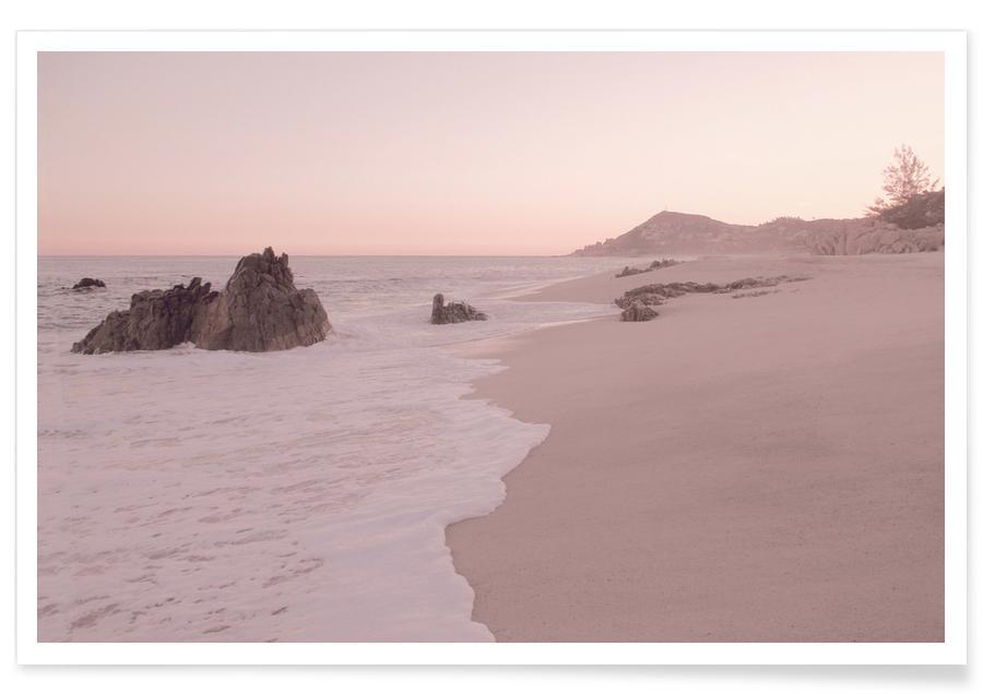 Stranden, Rosegold Beach Morning poster