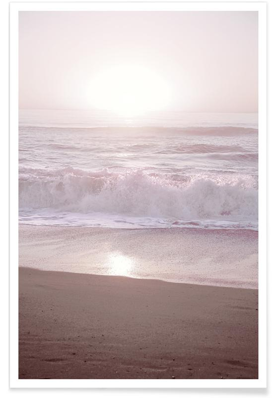 Sunset Halfmoon Bay Poster