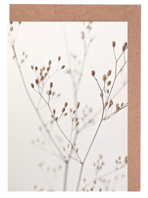 Wild Flower Natural Beige 1 -Grußkarten-Set