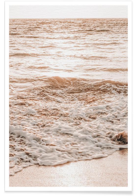 Strande, Hav, sø & havlandskab, Golden Beach Plakat