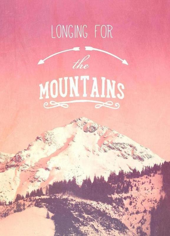 LONGING FOR THE MOUNTAINS -Leinwandbild