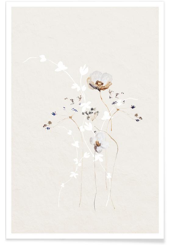 Japanisch inspiriert, Japanese Ikebana 1 -Poster