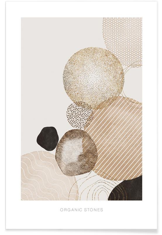 Abstract Landscapes, Organic Stones Poster