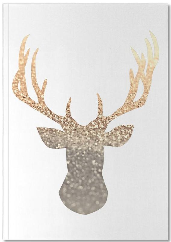 Cerfs, Gold Deer Notebook