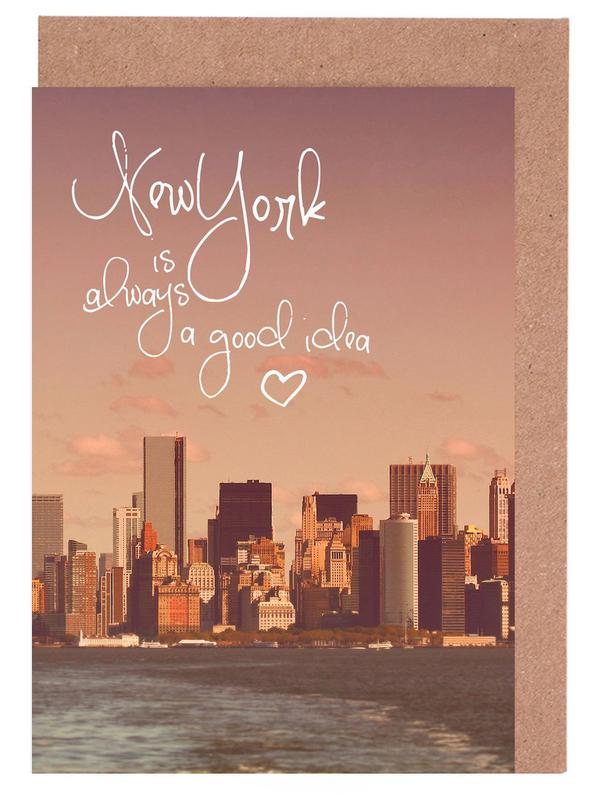 New York Is Always a Good Idea -Grußkarten-Set