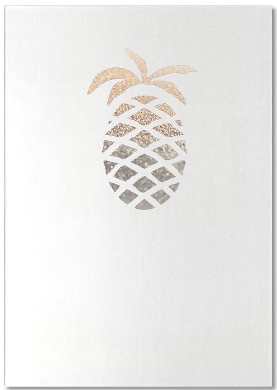 Gold Pineapple -Notizblock