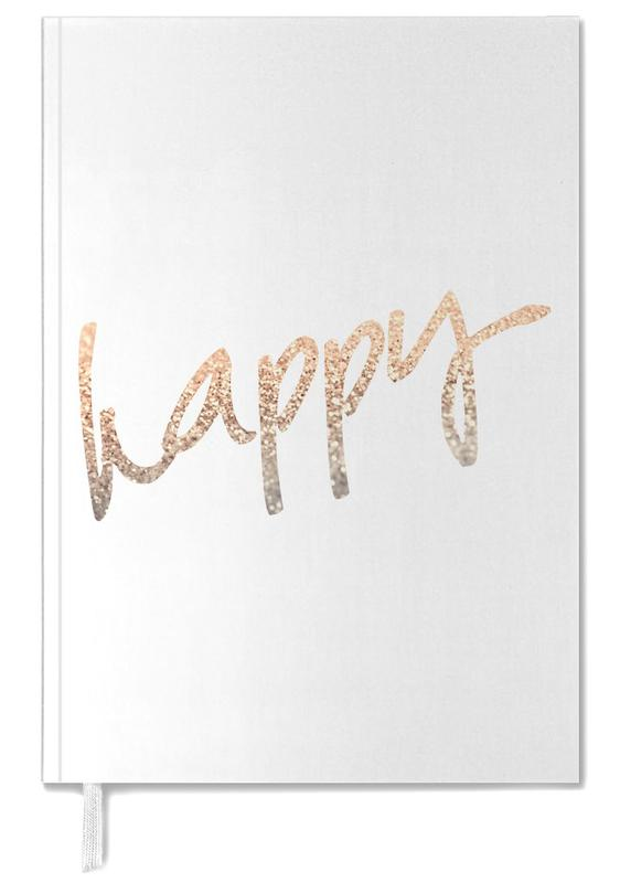 Quotes & Slogans, Gold Happy Personal Planner