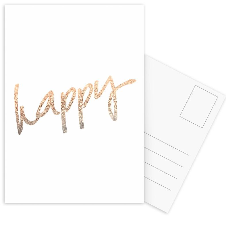 Gold Happy cartes postales
