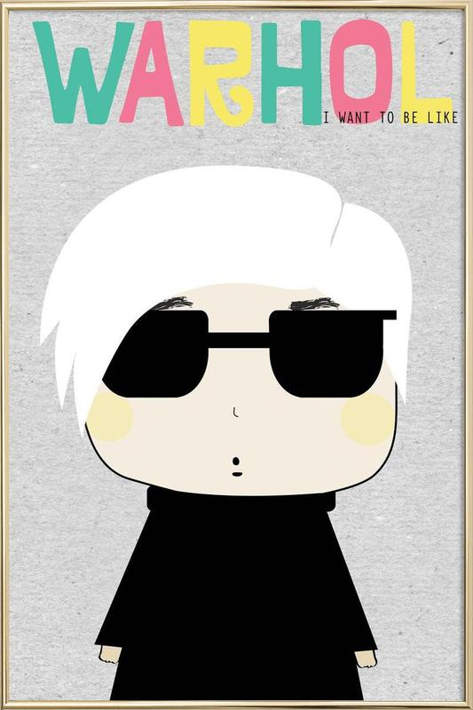 Little Warhol Poster in Aluminium Frame