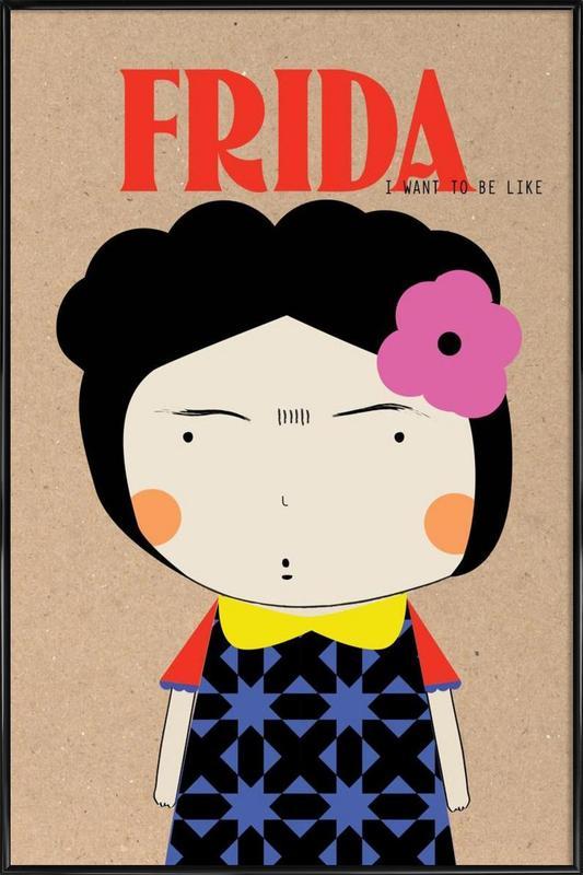 Little Frida Framed Poster
