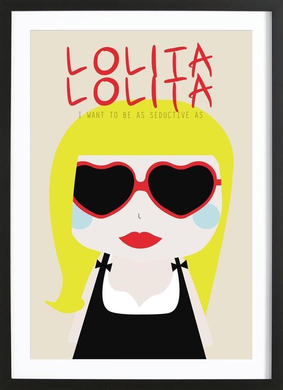 Little Lolita -Bild mit Holzrahmen