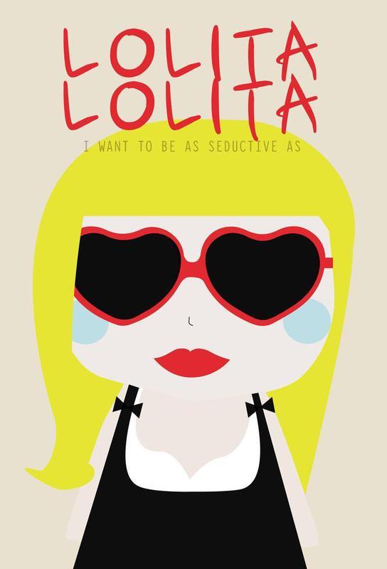 Little Lolita Aluminium Print