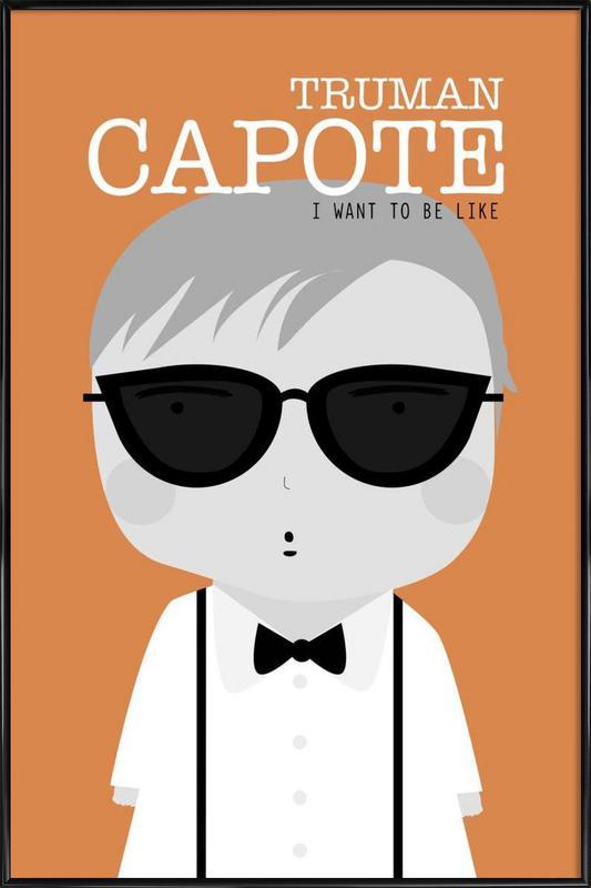Little Capote -Bild mit Kunststoffrahmen