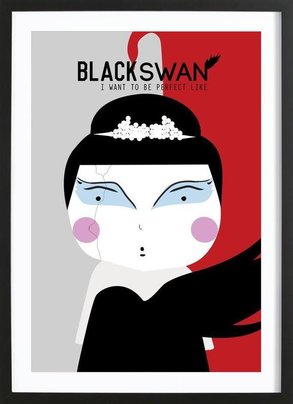 Little Black Swan ingelijste print