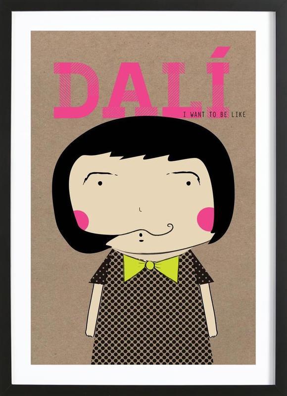 Little Dalí ingelijste print
