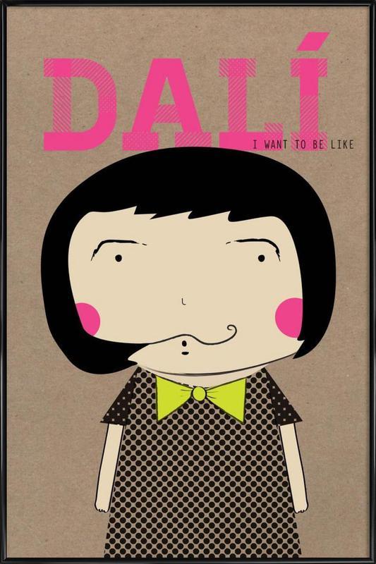 Little Dalí -Bild mit Kunststoffrahmen