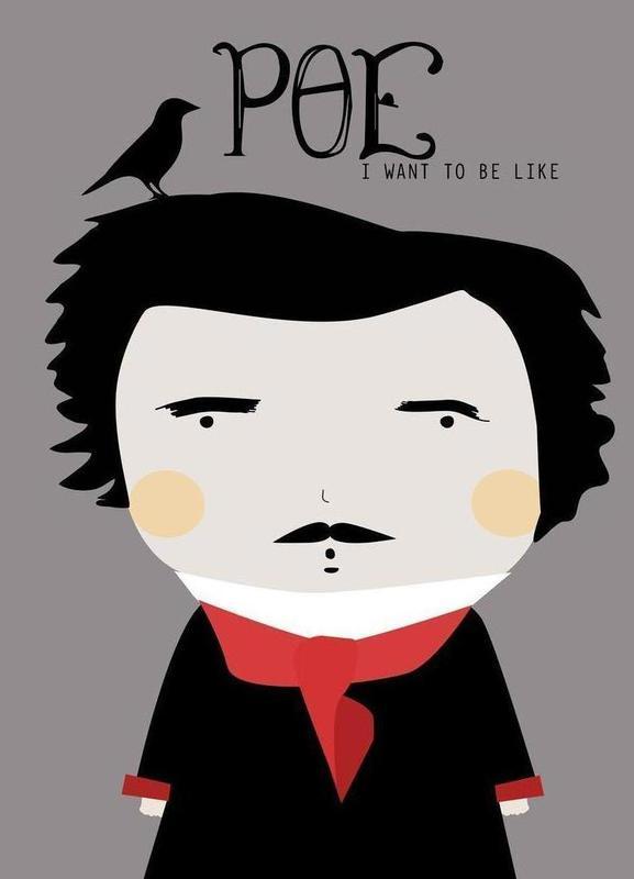 Little Poe -Leinwandbild