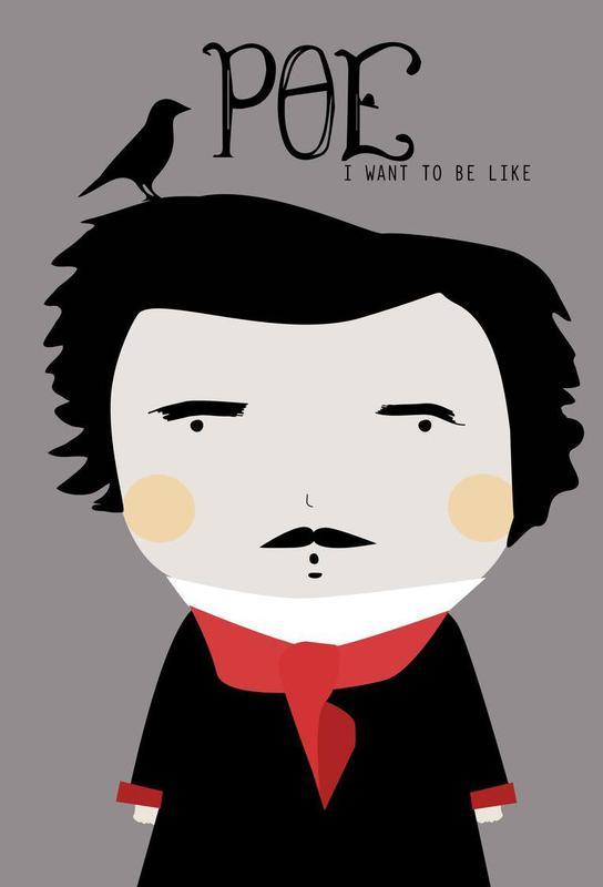 Little Poe Aluminium Print