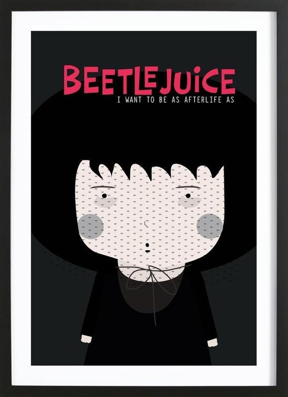 Little Beetlejuice -Bild mit Holzrahmen