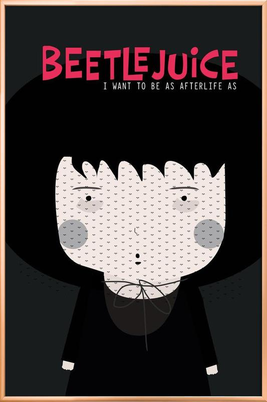 Little Beetlejuice -Poster im Alurahmen