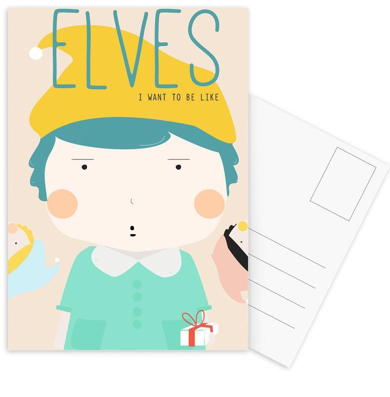 Little Elves Postcard Set