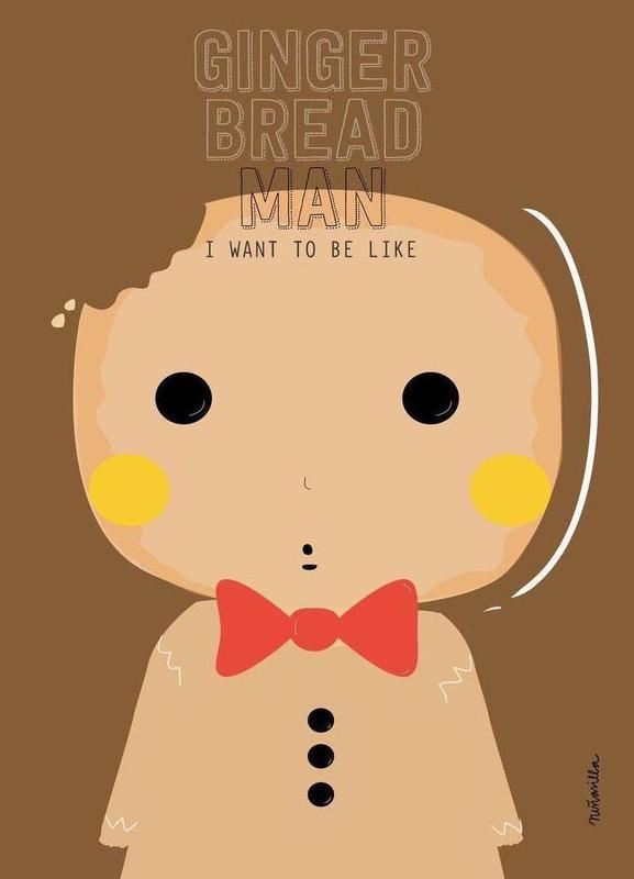 Little Gingerbread -Leinwandbild