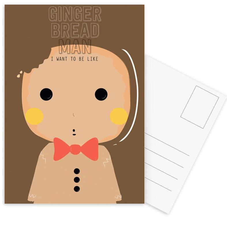 Little Gingerbread Postcard Set