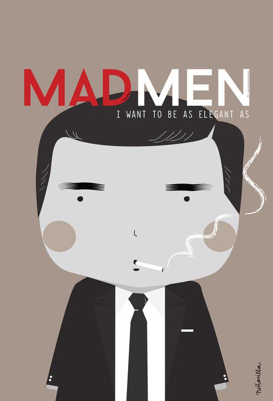 Little Mad Men Aluminium Print
