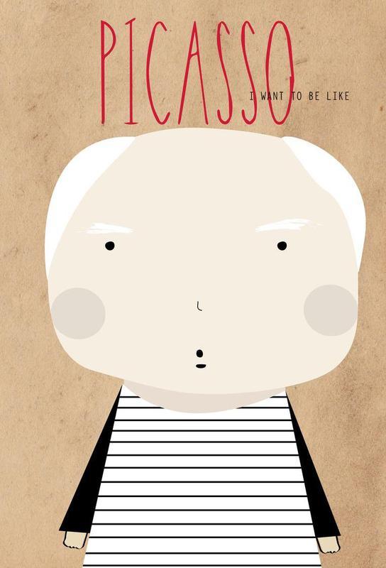 Little Picasso Aluminium Print
