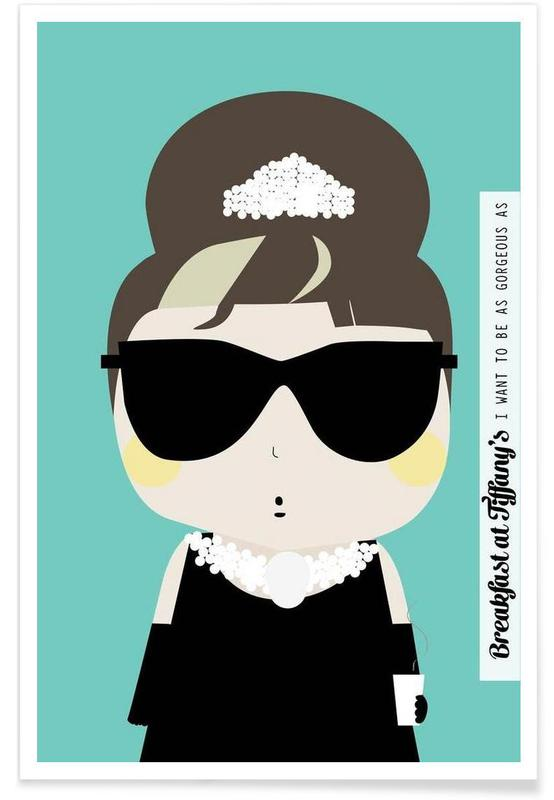 Little Breakfast at Tiffany's Poster