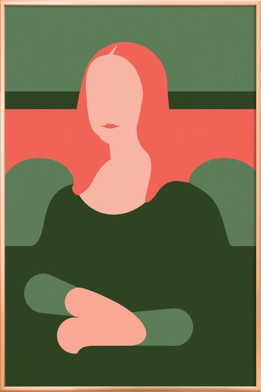 Monnalisa vs. Firenze -Poster im Alurahmen