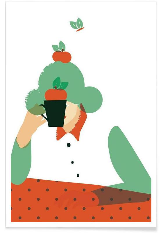 Pommes, Art pour enfants, Smog affiche