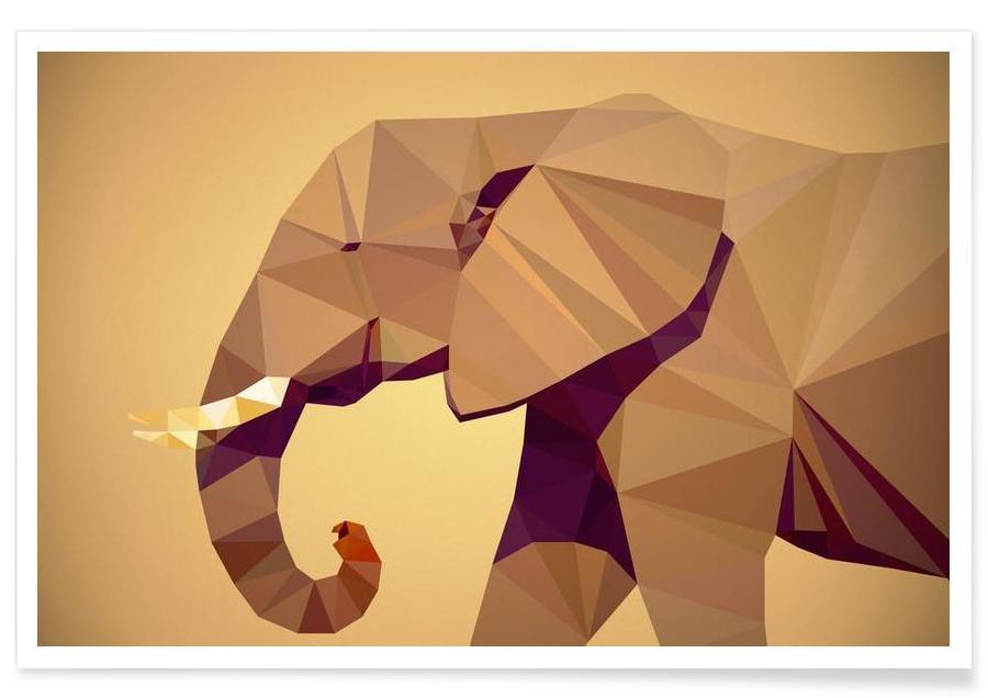Animaux de safari, Loxodonta africana affiche