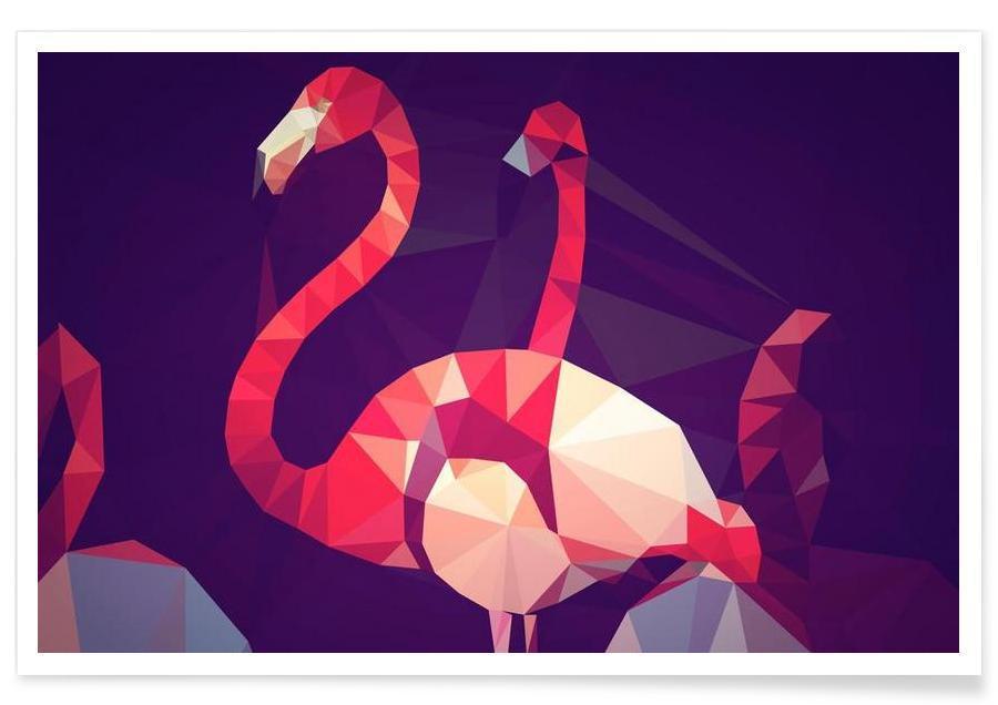 Phoenicopterus roseus Poster