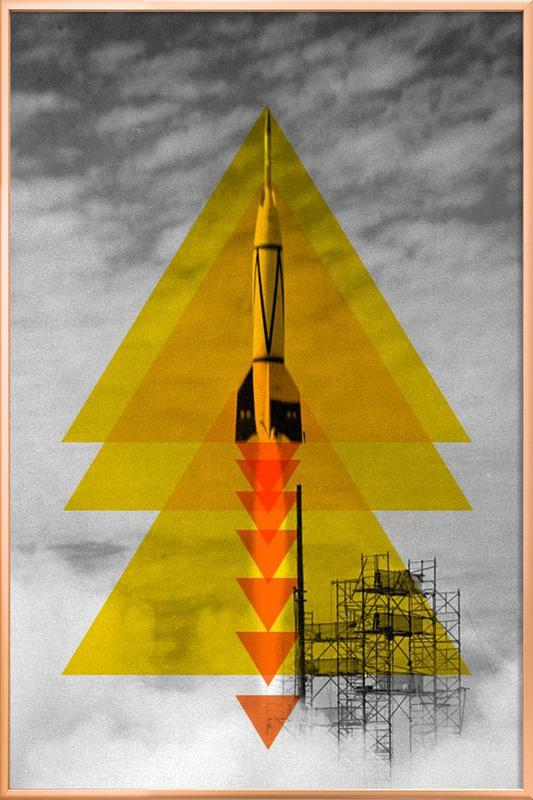 Rocket poster Poster in Aluminium Frame