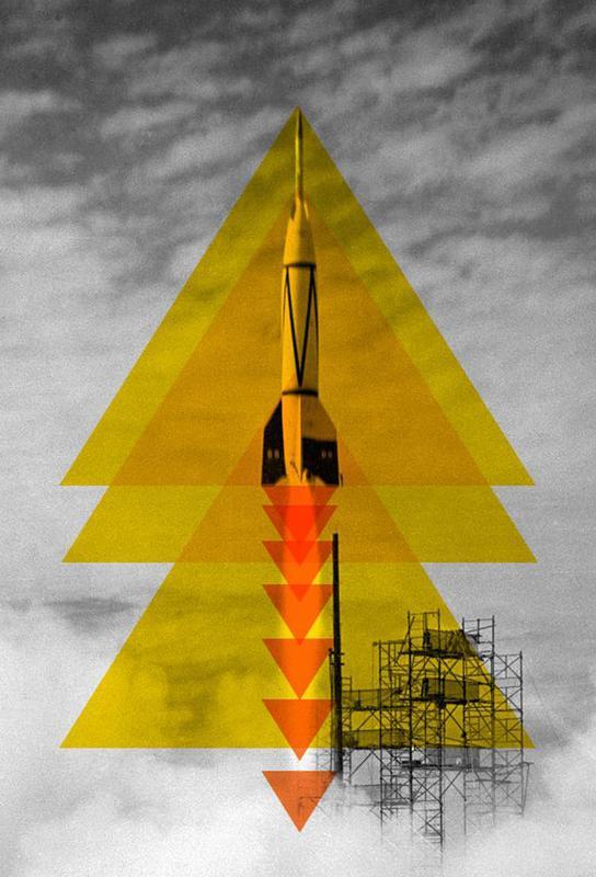 Rocket poster Aluminium Print