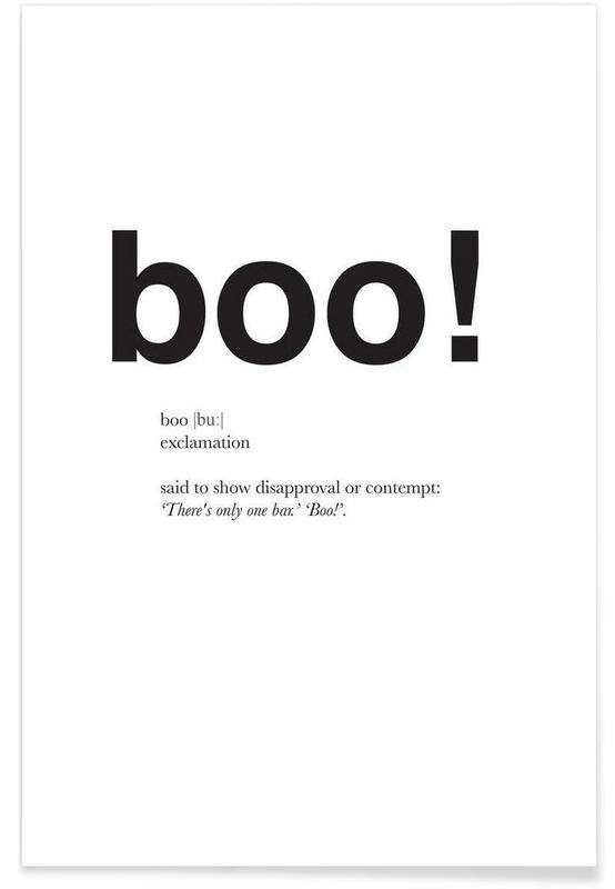 The boo interjection -Poster