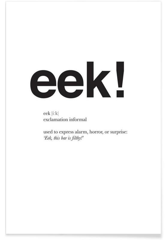 The eek interjection -Poster